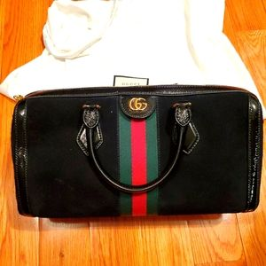 Gucci Ophidia suede Boston bag